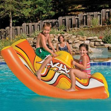 Pool Toys Lake Giant Float Inflatable Swimming Raft Leisure Floater Ride On Swim