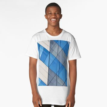 'Hypnotzd Abstract Architecture 91' Long T-Shirt by hypnotzd