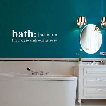 Bathroom Wall Decal - Dictionary definition Decal - Bath Wall Decal - Medium