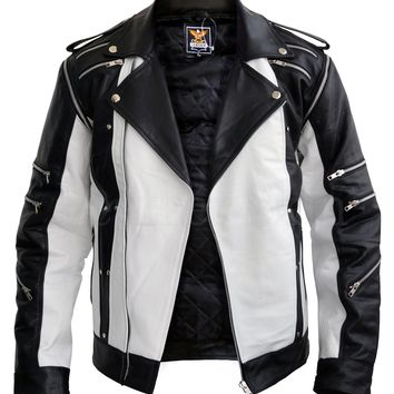 Michael Jackson White Leather Jacket