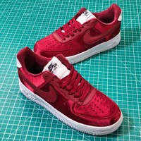 Nike Air Force 1 Low Red Velvet Af1 Sport Shoes Sale