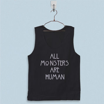 Men's Basic Tank Top - All Monsters are Human