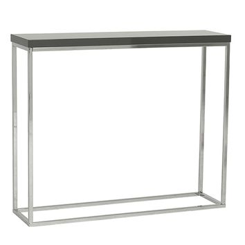 Kings Road Console Table GRAY/CHROME