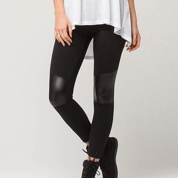 FULL TILT Faux Leather Womens Moto Leggings | Leggings