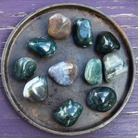 MOSS AGATE Harmony & Balance Stone, Make Sense of Things