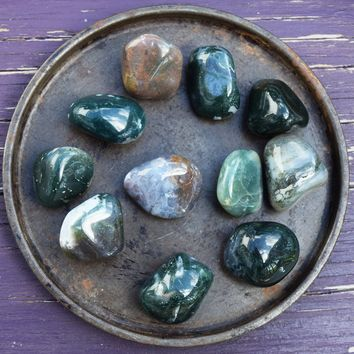 MOSS AGATE Harmony & Balance Stone, Makes Sense of Things and Figure Out What to Do Next