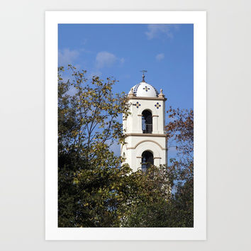 Ojai Post Office Tower Art Print by Henrik Lehnerer