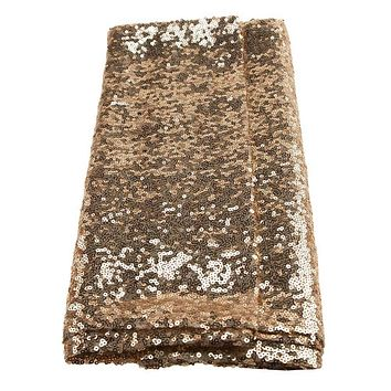 Sparkling Sequins Fabric Table Runner, 14-Inch x 108-Inch, Champagne