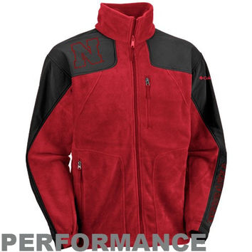 Columbia Nebraska Cornhuskers Scarlet Stormchaser Full Zip Performance Jacket