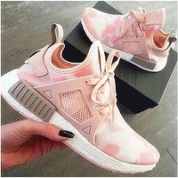 """Adidas"" NMD XR1 Duck Camo Classic Fashion Women Men Personality Running Sport Shoes Sneakers Camouflage Pink"