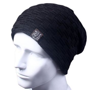 ac DCCKO2Q Casual Brand Men Winter Hat Beanie Hats Fur Warm Baggy Knitted Skullies Bonnet Ski Sports Adult Cap New Arrival Beanies