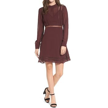 Kristen A-Line Long Sleeve Dress