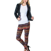 Blue And Yellow Printed Semi-Harem Women Pants