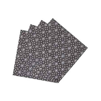 Navy Blue Print With White Dot Napkin Set of 4
