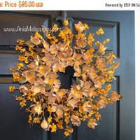 FALL WREATHS SALE fall wreaths autumn welcome wreaths front door magnolia wreaths decor Thanksgiving outdoor wreaths fall wedding wreaths