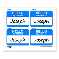 Joseph Hello My Name Is - Sheet of 4 Stickers