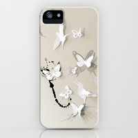 Butterfly Birds iPhone & iPod Case by Million Dollar Design
