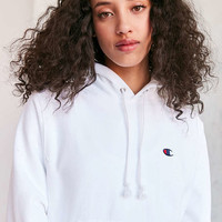 Champion + UO Reverse Patch Hoodie Sweatshirt - Urban Outfitters