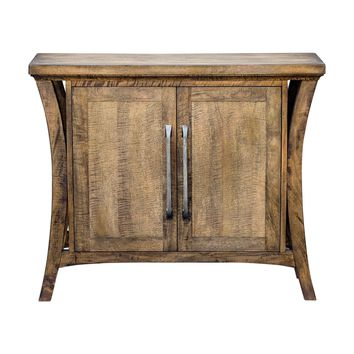 Cary Distressed Antique Honey Mango Wood Console Cabinet by Uttermost