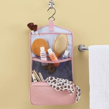 Personalized Royce Leather Hanging Toiletry Bag