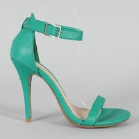 Anne Michelle Enzo-01 Open Toe Ankle Strap Sandal