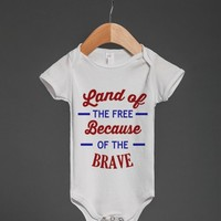 LAND OF THE FREE USA BABY ONSIE