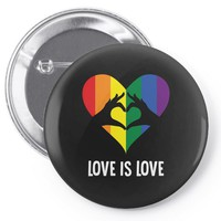 Love Is Love LGBT Rainbow Heart Pin-back button