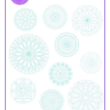 PDF Mandala Colouring Book nr. 1 with 10 mandala pictures for instant download & print