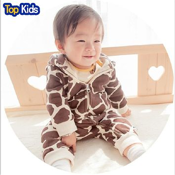 Winter new arrival infant clothing cotton baby girl overalls top quality baby rompers thick  baby outfit