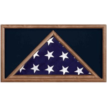 Military Flag And Award  Medal Display Case -shadow Box Hand Made By Veterans