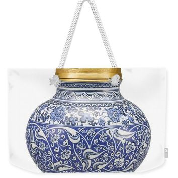 An Ottoman Iznik Style Floral Design Pottery Polychrome, By Adam Asar, No 9 - Weekender Tote Bag