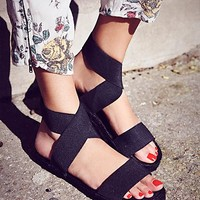 Free People Womens Amore Stretch Sandal