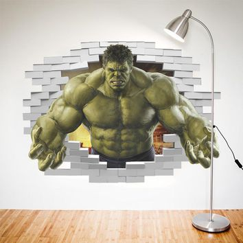 Superheroes Comic Avengers The Incredible HULK Wall Sticker Vinyl Art Home Kids Boy Bedroom