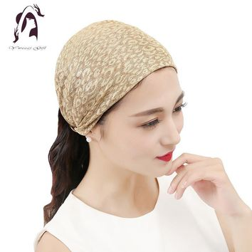 2017 Hot Women Elastic Headband Cotton Hair Accessories Twisted Knotted Wide Hair Turban Hair Bands Accessories