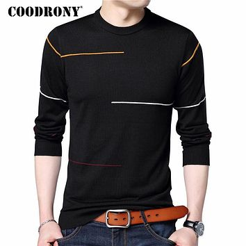 Cashmere Wool Sweater Men Brand Clothing Slim Warm Sweaters O-Neck Pullover Men Top 7137
