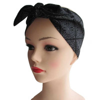 Gothic Bat Fabric Head Wrap Scarf