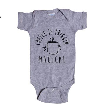 Coffee Is Friggin Magical Baby Onesuit