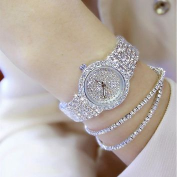 Luxury Women Watches Diamond Famous Brand Elegant Dress Quartz Watches Ladies Rhinestone Wristwatch Relogios Femininos ZDJ04