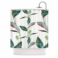 "DLKG Design ""Ana"" Black Olive Shower Curtain - Outlet Item"