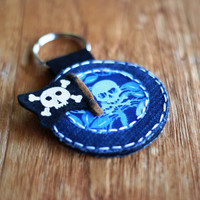 Keyring with Pirate Embellishment