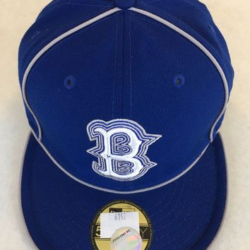 BROOKLYN DODGERS MLB NEW ERA 5950 BLUE RETRO COOPERSTOWN COLLECTION FITTED HAT