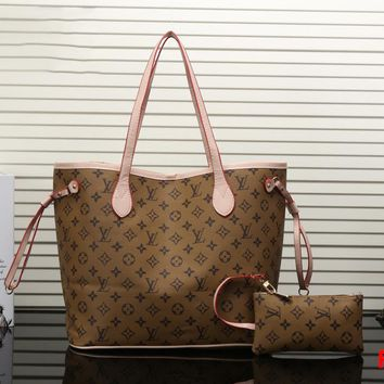 LV Two piece Women Shopping Leather Handbag Tote Satchel Shoulder Bag H-MYJSY-BB Tagre™