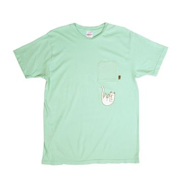 Falling For Nermal Pocket Tee (Pastel Green)