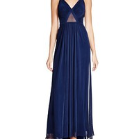 La FemmeSleeveless Illusion Inset Gown