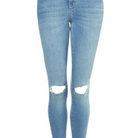 MOTO Blue Ripped Leigh Jeans | Topshop