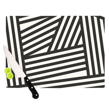 "Louise Machado ""Black Stripes"" Cutting Board"