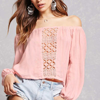 Lush Crochet Panel Crop Top