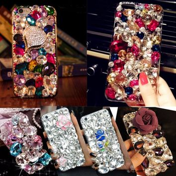 Soft Edge Acrylic mobile phone shell fashion Bling Diamond Luxury Glitter Case For OPPO A37/NEO9 Case Cover