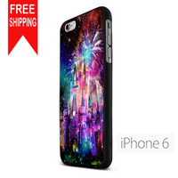 Disney Castle Fireworks Design On Nebula FDL iPhone 6 Case
