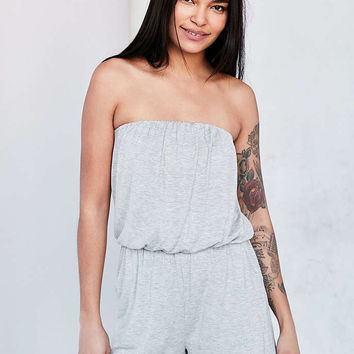 bd38087fcb Silence + Noise Strapless Knit Romper - from Urban Outfitters